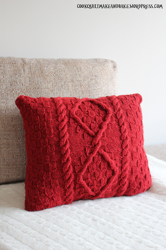 Make Cable Knit Cushion Cover For Project Woolsack