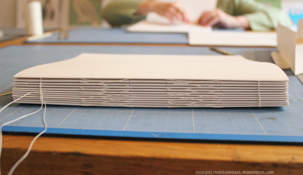 How To Make A Book Binding : Make book binding tutorial cookquiltmakeandbake